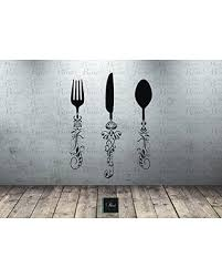 Can T Miss Deals On Utensil Decals 5ft Kitchen Wall Decal Knife Spoon Fork Wall Decal Dining Room Large Wall Art Decal Vinyl Sticker Kitchen Decor