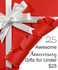 anniversary gift ideas for under 25