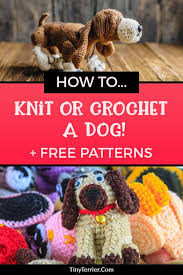adorable knitting crochet dog sewing