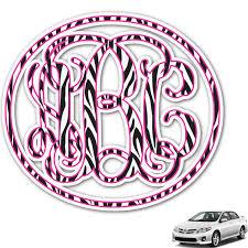Zebra Print Monogram Car Decal Personalized Youcustomizeit