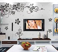 Amazon Com Covpaw Wall Stickers Us Stock Decor Flower Vine Living Room Lobby Lounge Bedroom Guest Room Decal Home Kitchen