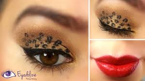 leopard eyeshadow red lips tutorial