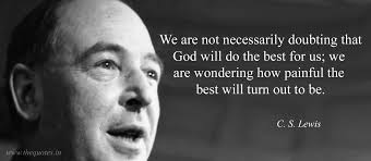 we are not necessarily doubting that god will do the best for us