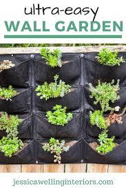 Easiest Vertical Garden Ever Jessica Welling Interiors In 2020 Vertical Garden Diy Vertical Garden Vertical Garden Planters