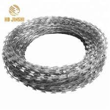 China Nigeria Anti Rust Galvanized Concertina Razor Barbed Fencing Wire China Welded Razor Wire Razor Barbed Tape Wire