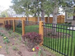 Image Result For Cedar Post With Black Vinyl Fence Panels Backyard Fences Front Yard Fence Fence Landscaping