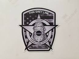Thin Grey Line Badge Decal Correctional Officer Car Truck Vinyl Usa Police Van 1 6 99 Picclick