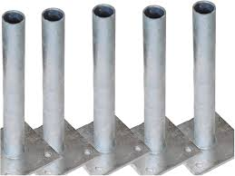 5 Post Anchor Post Holder Post Sleeves For Diameter 34 Mm Round Posts Mesh Wire Fence Post For Screwing Dowel Dowel On Solid Surface Such As Concrete Or Wall Amazon De Baumarkt
