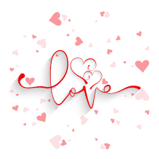card love background with hearts design