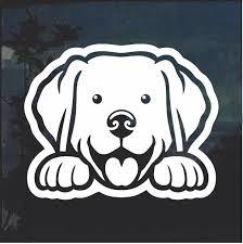 Labrador Retriever Peeking Dog Window Decal Sticker Custom Sticker Shop