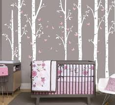 96 Large Birch Tree Branch Decal With Butterflies Set Of 7 Trees But Ellaseal