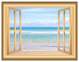 Vwaq Beach Scene Window Decal Ocean View Bedroom Wall Sticker Beach Style Wall Decals By Vwaq Vinyl Wall Art Quotes And Prints