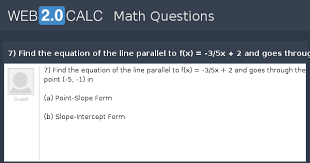 find the equation of the line parallel