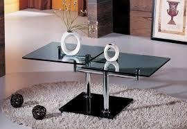 stylish rectangular glass top coffee tables