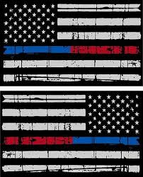 Tattered Police Fire Thin Blue Red Line American Flag Decals X 2 3 X 1 75 Ebay