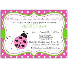 Lil Ladybug Pink And Green Baby Shower Invitation Baby Shower