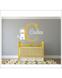 Sales For Personalized Wall Decal Name Lion Nursery Vinyl Decals Baby Children Jungle Bedroom
