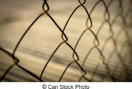 Close Up Metal Fence Background Selective Focus