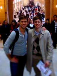 Aaron Tveit and his brother Jon. had you seen them today you might ...