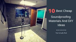 soundproofing materials diy ideas