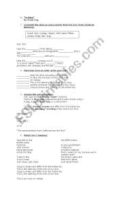 holiday by greenday esl worksheet by