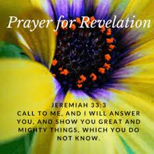 jeremiah prayer for revelation of hidden things