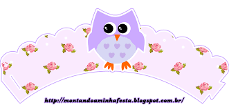 Kit Digital Gratuito Para Imprimir Corujinha Floral Hello Kitty
