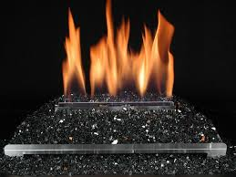 ventless gas log fireplace with black