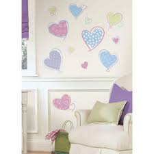 Roommates 5 In X 11 5 In Hearts Peel And Stick Wall Decal Rmk1434scs The Home Depot