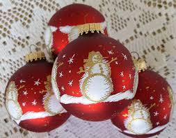4 krebs glass tree ornaments