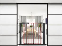 Auto Close Baby Pet Safety Gate 105cm 111cm Safegate 105 111 Blk Nz 70 31 Emax Co Nz Online Shopping For Houseware Home Decorations Furniture Home Living Gifts Electronics And Toys At Lowest Price