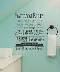 Modern Kids Bathroom Rules Reminder Wall Decal Bathroom Rules Wall Quotes Decals Kids Bathroom