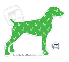 German Shorthaired Pointer Decal Standing Fowl Dog