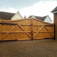Swan Neck Wooden Driveway Gates Made To Measure Heavy Duty Double Entrance Ebay