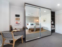mirrored built ins with study nook