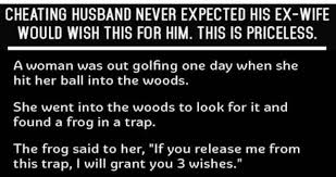 cheating husband never expected his ex wife would wish this for