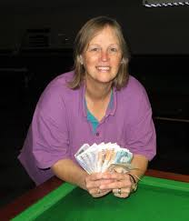 Jackie Ellis became the first female Roll-Up champion at Chandlers Ford  Snooker Club following her success last weekend | Swindon Advertiser