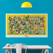 Vinyl Sticker Poster Simpson Characters Muraldecal Com