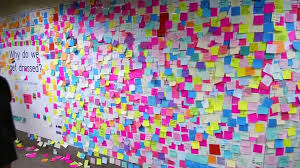 nyc builds wall of sticky notes in