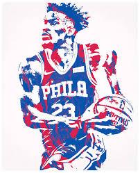 Jimmy Butler Philadelphia 76ers Pixel Art 101 Mixed Media By Joe Hamilton