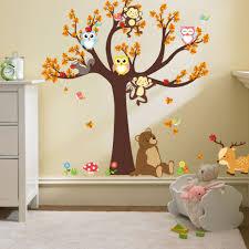Monkey Owls Tree Jungle Animals Wall Stickers Decal Kids Funny Room Decor Mural Home Decor Hot Walmart Com Walmart Com