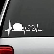 Amazon Com F1083 Hedgehog Heartbeat Lifeline Decal Sticker Arts Crafts Sewing