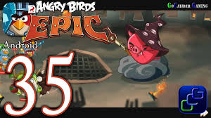ANGRY BIRDS Epic Android Walkthrough - Part 35 - Wizpig's Castle ...