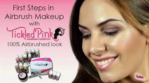 tickled pink airbrush makeup kit with