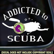Addicted To Scuba Diver Diving Vinyl Decal Sticker Gorilla Decals