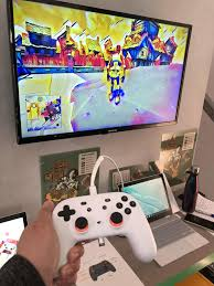 Stadia controller in action at Google I ...