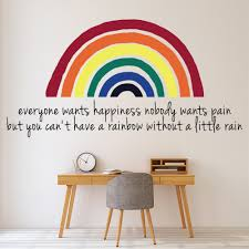 Everyone Wants Happiness Rainbow Wall Decal Sticker Ws 46625 Ebay