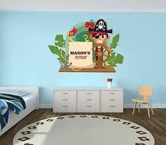 Custom Name Pirate Wall Decal Boy Girl Room Mural Wall Decal Sticker For Kids Ebay