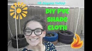 Diy Pvc Shade Cloth Reed Fencing For Az Urban Garden Youtube