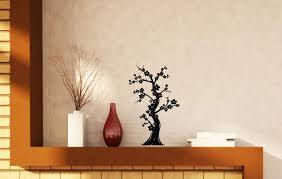 Wall Vinyl Decal Bonsai Tree Japanese Culture Abstract Nature Oriental Wallstickers4you